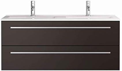 Waschtischunterschrank mit Waschbecken Libato 60 90 120 cm – weiß anthrazit Eiche grau Hochglanz – Badmöbel Badezimmermöbel Unterschrank hängend…