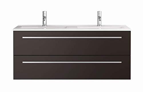 Sieper Waschtischunterschrank Libato - Unterschrank Verschiedene Breit - weiß oder anthrazit Hochglanz - Badmöbel Badezimmermöbel Waschtisch Unterschrank Badmöbel (120, anthrazit)