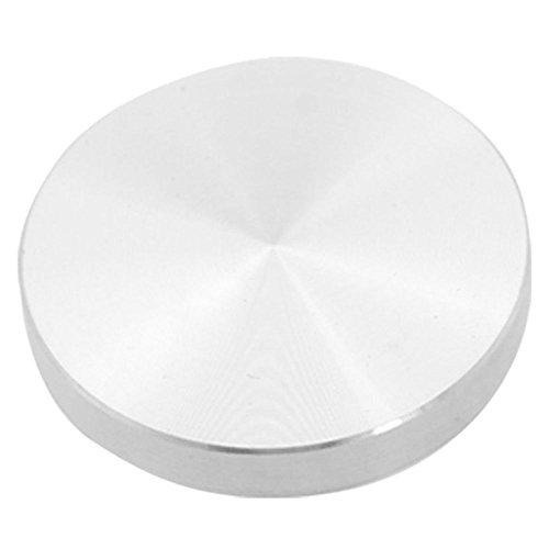 TOOGOO(R) Glasplatten-Adapter, Aluminium, rund, 50x8mm, Silber