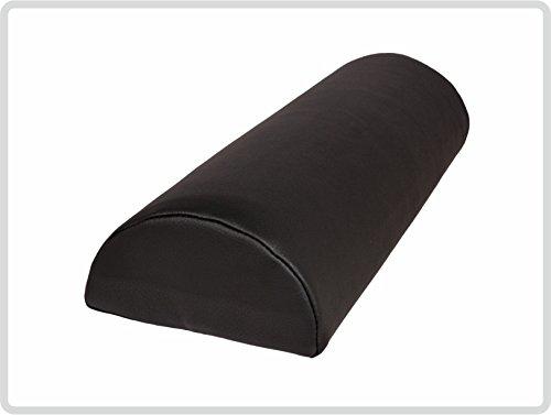 Halbrolle Nackenrolle Knierolle Massage mit Kunstlederbezug 40 x 15 x 7,5 cm, schwarz