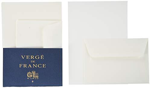 G.Lalo ウ゛ルジェ・ド・フランス レターセット 封筒5枚 便箋A5サイズ10枚 洋形2号(114×162mm) ホワイト gl52200