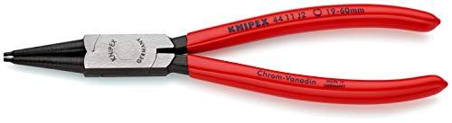 KNIPEX 44 11 J2 SB Alicate para arandelas para arandelas interiores en taladros negro atramentado recubiertos de plástico 180 mm