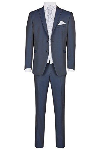 Wilvorst Hochzeitsanzug Alan, mitternachtsblauem Brillantpiqué, Slimline Größe 50