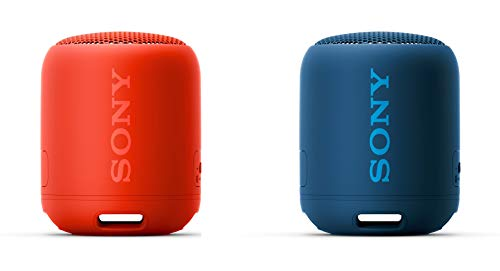 Sony SRS-XB12 Extra Bass Portable Bluetooth Speaker, Blue (SRSXB12/L) and Red (SRSXB12/R)