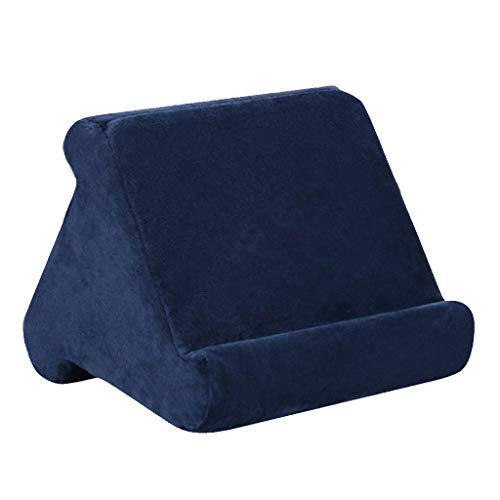 PETSOLA Multi-Angle Soft Stand Pillow Tablet Phone Holder Fits For Tablet Phone - Dark blue, 23x23x20cm