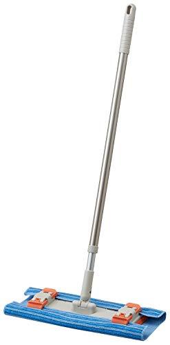 山崎産業 フロアワイパー コンドル ぞうきんとシートが使えるフローリングワイパー 抗菌 マイクロファイバー クロス付き 伸縮タイプ 187157