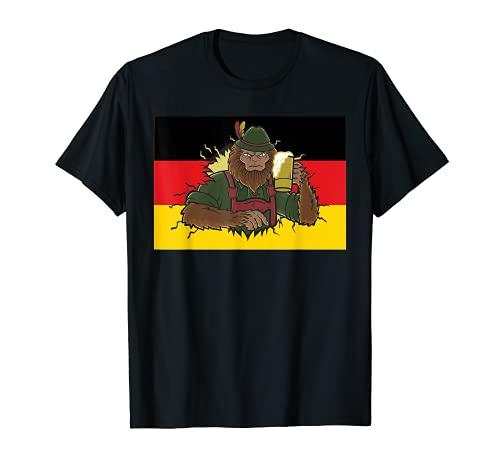 Bigfoot Prost - Taza de cerveza con bandera alemana Camiseta