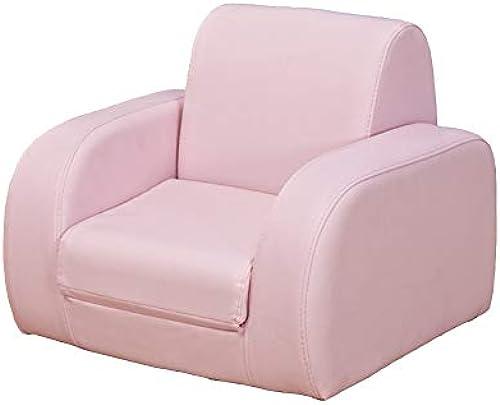 GX&XD 2 in 1 flip Open Schaum Kindersofa,PU Leder bezogenen Kindercouch Cute Kindersessel Schlafen kann und Sich hinsetzen Geeignet für Kinder unter 4 Jahre alt-Rosa