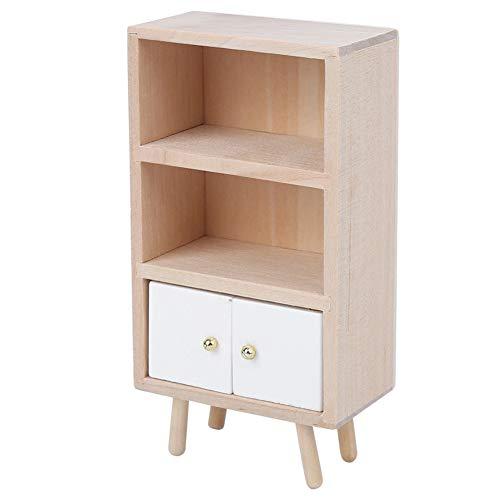 1/12 gabinete de cocina en miniatura accesorios de casa de muñecas cabina de exhibición de madera muebles en miniatura muebles de muñeca en miniatura gabinete de casa de muñecas para(Locker)
