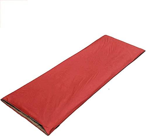 JoHUAZ Un Solo Saco de Dormir for los Sacos de Dormir rectangulares Impermeables for Adultos for el Interior de Camping al Aire Libre de Interior (Color: Verde) (Color : Rojo)