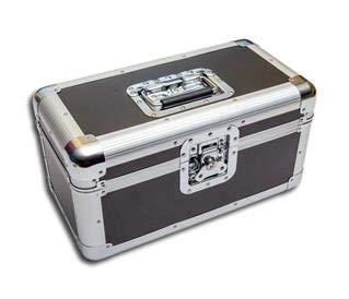 Single Schallplatten Koffer 200 schwarz/silber Protected