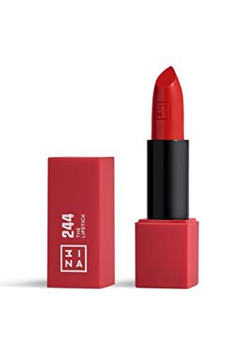 3INA MAKEUP - Vegano - Cruelty Free - The Lipstick 244 - Rosso Intenso - Rossetto Matte - 5h Lasting Lipstick - Alta Pigmentazione - Texture crème - Profumo di vaniglia e custodia magnetica