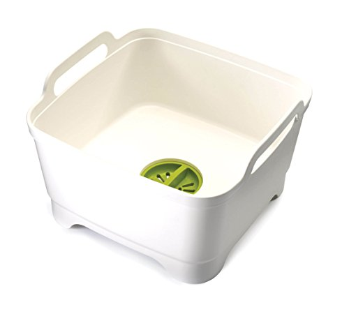 Joseph Joseph 85055 Wash and Drain Washing Up Bowl - White/Green
