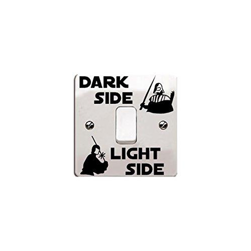 Adesivo in vinile 'Dark Side - Light Side' di Star Wars per interruttore della luce