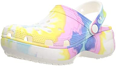 Crocs Women's Classic Clog | Platform Shoes, Pastel Tie Dye, 8