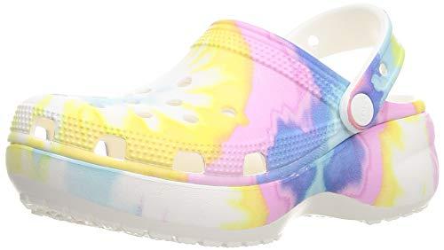 Crocs Women's Classic Clog | Platform Shoes, Pastel Tie Dye, 9