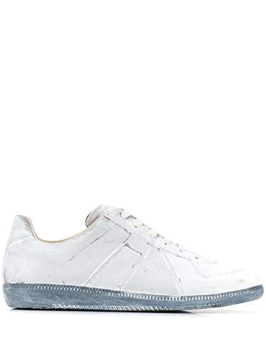 Maison Margiela Luxury Fashion Uomo S57WS0236P1872H7700 Bianco Pelle Sneakers | Stagione Outlet