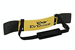 EVO Fitness Weight Lifting Arm Blaster Bicep Isolator Support For Gym Straps Towels - Yellow