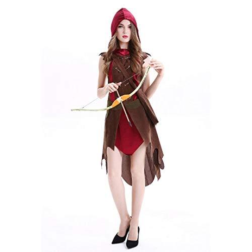 YyiHan Cosplay Disfraz, Mujer Grand Theft Robin Hood Bosque Hunter Juego del Traje del Funcionamiento de la Etapa del Traje del Traje de Cosplay del Juego Uniforme del Partido del Maquillaje