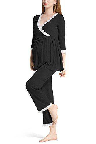Molliya Women's Cotton Maternity Nursing Pajama...