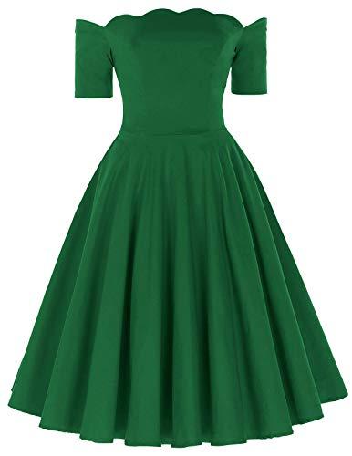 PAUL JONES Women's Vintage Dress Long Sleeve Cocktail Dress Size L Green