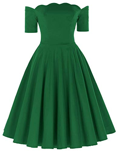 PAUL JONES Women's Vintage Dress Long Sleeve Cocktail Dress Size L Green