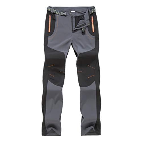 Pantalones para Hombre,Hombres Impermeables a Prueba de Viento al Aire Libre Senderismo Caliente Invierno Pantalones Gruesos Pantal/ón de Trabajo