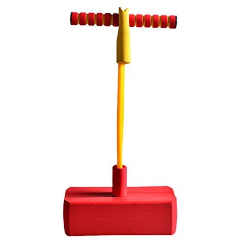 T TOOYFUL Pogo-Stick Hüpfstab Springstock Sprungstab Outdoor Springen Spielzeug für Kinder - Rot