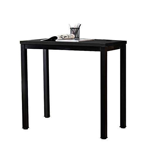 DlandHome Computertisch Schreibtisch, anständig und Stabil 80 x 40 cm Holz, Moderner Bürotisch Arbeitstisch PC Laptop Tisch für Büroarbeit und Hausaufgaben, Schwarz & Schwarz