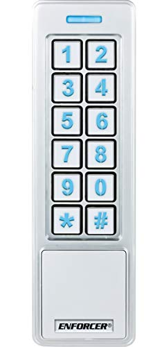 Seco-Larm SK-B241-PQ ENFORCER Bluetooth Access Controller Mullion Keypad with Proximity Reader, User Management, Administrator Setting, On-Device Security, Easy Backup/Restore, Tamper Alarm Output