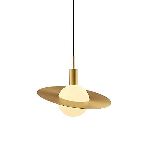 Kroonluchter, Modern Design Ronde Plafond Metalen kroonluchter met glazen kap, in hoogte verstelbaar, for Keuken Eetkamer Gang Slaapkamer