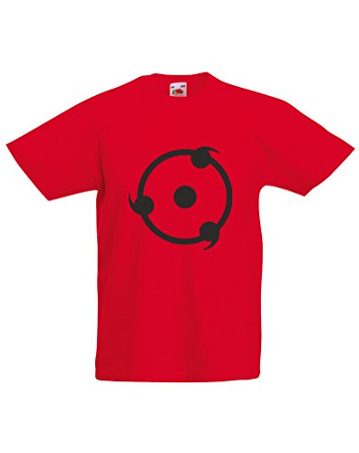 Print Wear Clothing The Sharingan, Enfant T-Shirt imprimé - Rouge/Noir 12-13 Ans