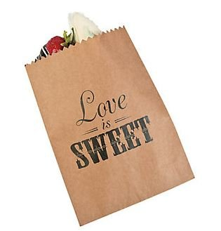 """Love Is Sweet"" Favor Bags for Wedding Candy Buffet, Dessert Table, and Cake - Set of 50!"