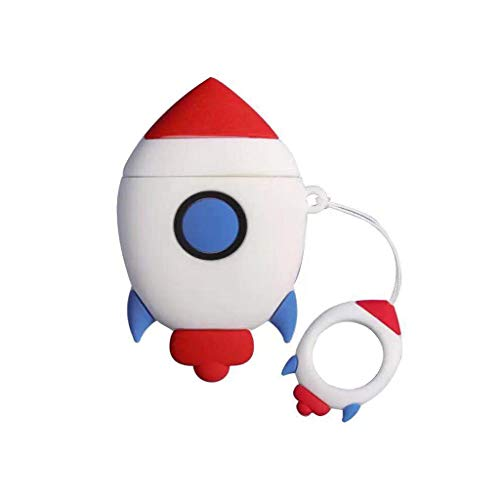 Huyiko - Funda protectora de silicona para modelo Rocket con correa para Airpods 1/2