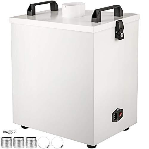 VEVOR Purificador de Humo de Aire Puro 80 W para Láser CNC, Extractor de Humo Puro de Aire Tamaño de 37 x 25 x 40 cm, Purificador de Humo para Máquina de Grabado Antioxidante Volumen de Aire 180 m³ /H