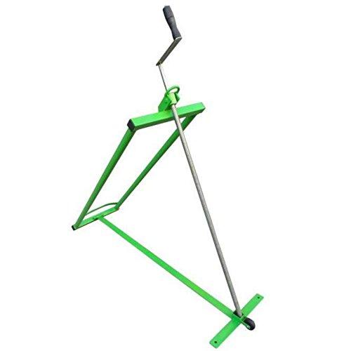 WerkaPro 10084 - Elevador de cortacésped con tornillo (carga máxima: 350 kg), color verde