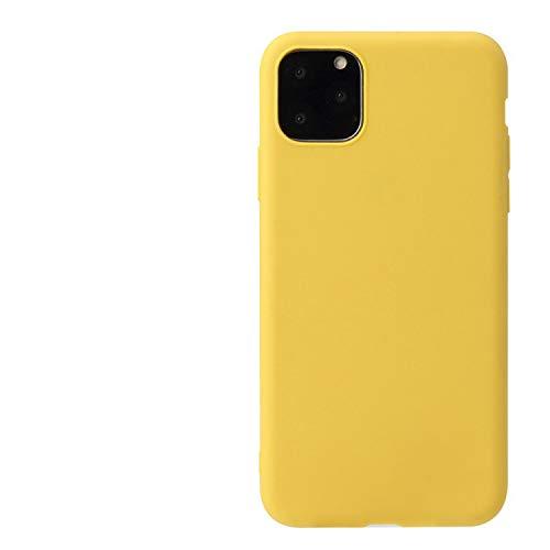 Funda de teléfono con protección contra caídas Ajustada de TPU Suave y Delgada de Silicona líquida para iPhone 12 6.1 Pulgada