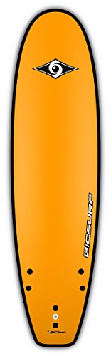 BIC Sport G-Board EVO Soft Surfboard, Yellow, 8-Feet x 23-Inch