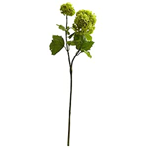 UKN 18″ Snowball Hydrangea Artificial Flower (Set of 6) H: 18 in. W: 4 D: in