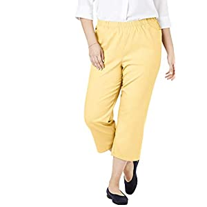 Woman Within Women's Plus Size Capri Fineline Jean