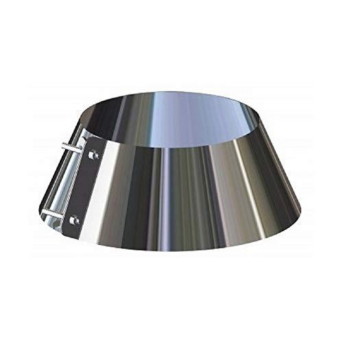 Scossalina copriforo in acciaio inox per canna fumaria (DN 120)
