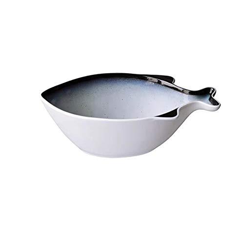 Soup bowl Large Fish-Shaped Soup Bowl Creative Simple Hotel Restaurant Fruit Salad Ceramic Noodle...