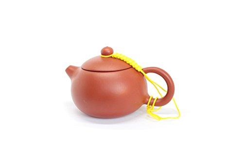 Tea Soul Zisha 110 ml, typische Chinese theepot van een bepaalde rode klei van Yixing, keramiek, bruin, 10 x 7 x 5,5 cm