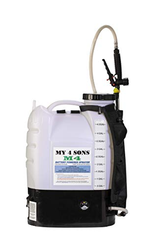 M4 MY4SONS 4-Gallon Battery-Powered Backpack Sprayer, Multipurpose, Battery & Charger Included