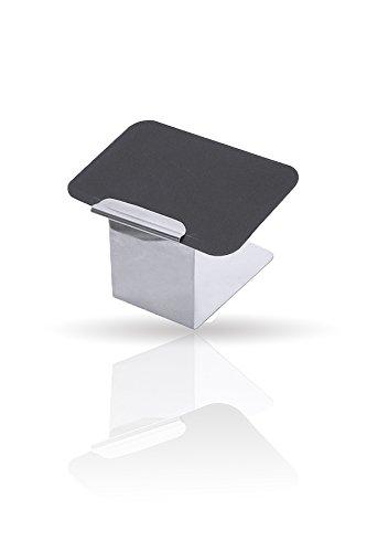 Kerafactum® - Kartenhalter Kleine Schreibtafel Angebotstafel Tisch Tafel Tischtafel Platzschild Hinweisschild Halter aus Edelstahl 2 Teilig - abwaschbar