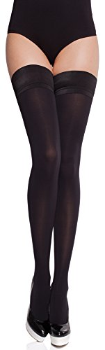 Merry Style Medias Autoadhesivas Lencería Sexy Mujer MS 632 60 DEN (Negro, XS-S)
