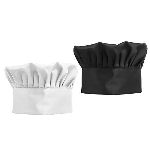INHEMI 2 Stück Kochmütze/Kochhut/Koch Hut mit Einstellbar