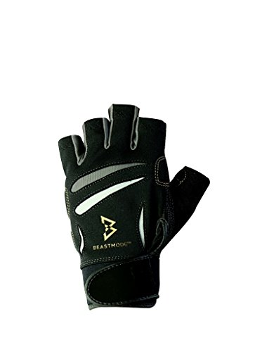 BIONIC The Official Glove of Marshawn Lynch Gloves Beast Mode Women's Full Finger Fitness/Lifting Gloves w/Natural Fit Technology, Black (Pair), Medium