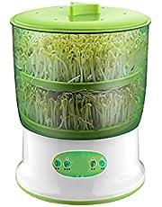 Peahog Automatisk groddningsmaskin stor kapacitet dubbla lager 360 graders rotation mat kvalitet PP elektronisk böna grodd växande maskin groddning fröplanta maskin för hem kök