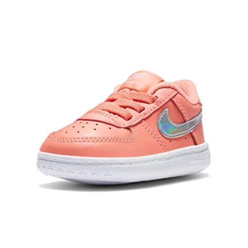 Nike Jungen Unisex Kinder Force 1 Crib (Cb) Gymnastikschuh, Atomic Pink MTLC Dk Grey White, 19.5 EU